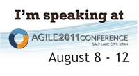 Speaking at Agile 2011